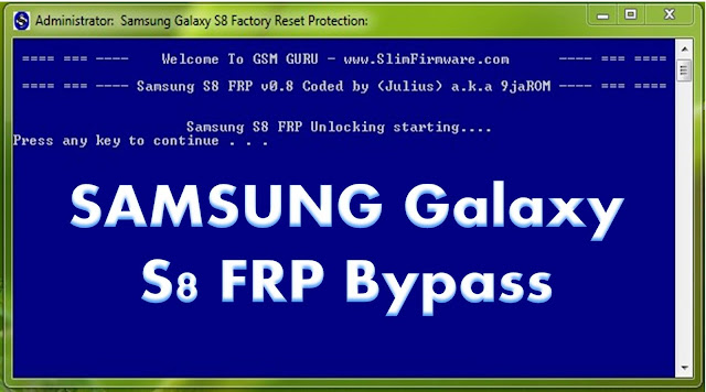 Samsung Galaxy S8 v0.8 Frp Bypass CMD Tool Free Download By MobileflasherBD