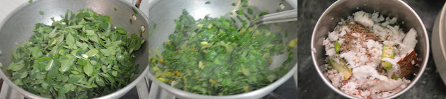 Step 2 - Drumstick Leaves Channa Stir Fry | Moringa Leaves Chickpeas Poriyal