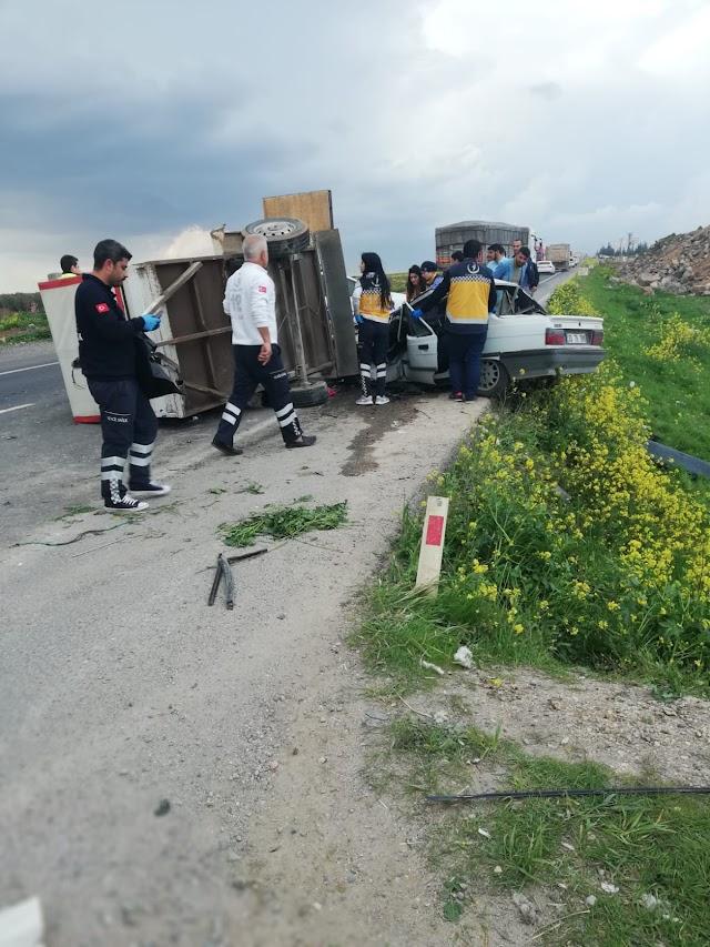 Suruç'ta trafik kazası: 3 ölü 4 yaralı