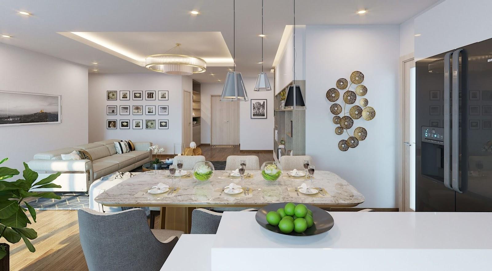 Thiết kế phòng khách căn hộ Deal-key Amber Riverside Minh Khai