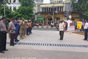 Giat Operasi Yustisi Penegakan Protkes di Jalan K.H. Moch. Mansyur