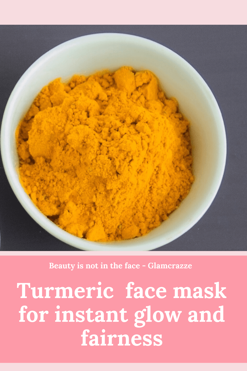 homemade face pack for instant glow and fairness using turmeric