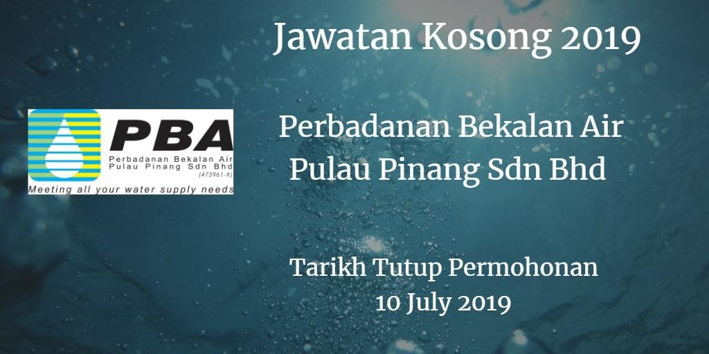 Jawatan Kosong Perbadanan Bekalan Air Pulau Pinang Sdn Bhd 10 July 2019Jawatan Kosong Perbadanan Bekalan Air Pulau Pinang Sdn Bhd 10 July 2019