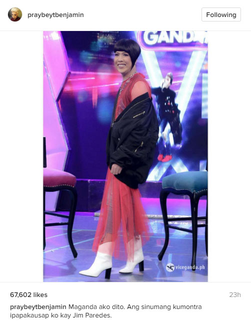 Vice Ganda pokes fun at Jim Paredes