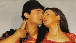 aamir khan and karishma kapoor in film raja hindustani