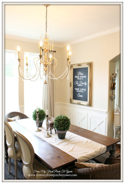 Dining Room Chalkboard-French Country Dining Room- From My Front Porch To Yours