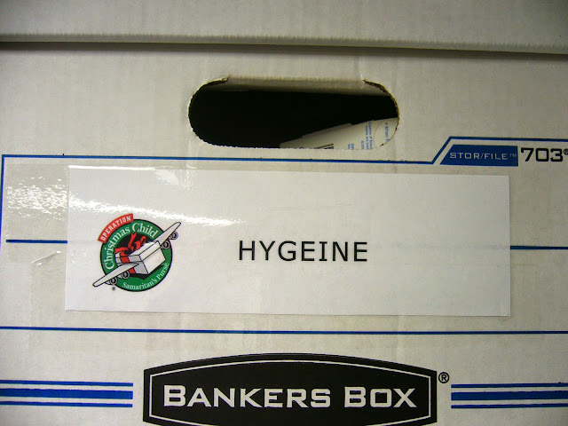 Labeling OCC stockpile boxes