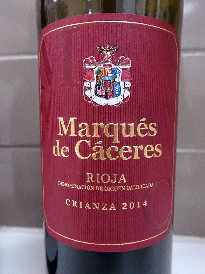 Marqués de Cáceres Crianza 2014 (88 pts)