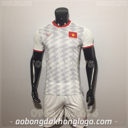 Áo Bóng Đá Đội Tuyển Việt Nam Trắng 2019