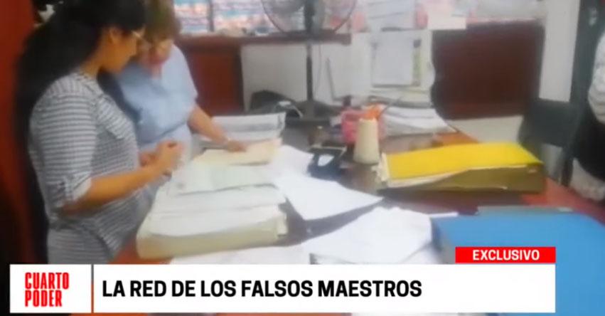 Anuncian inmediata separación de docentes con títulos falsos en la DRE San Martín