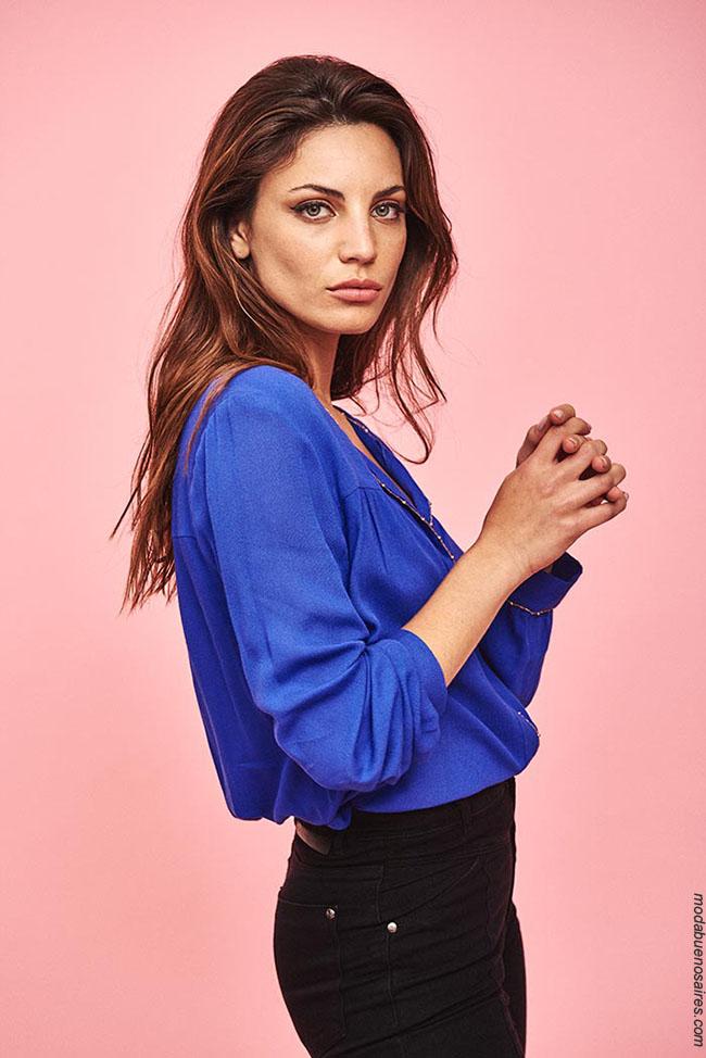 Ropa de moda mujer invierno 2018. Moda 2018 blusas y camisas.