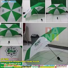 Payung Lipat 3 Rangka Putih Handle Plastik