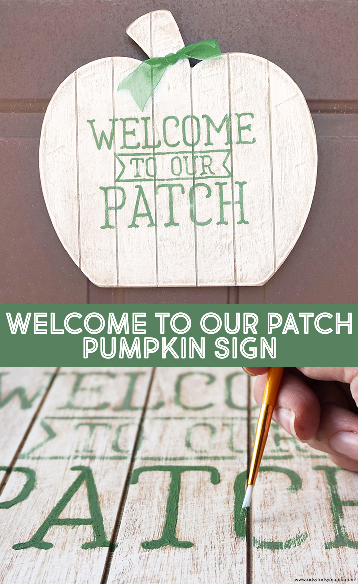 Welcome to Our Patch Pumpkin Sign with Free Cut File