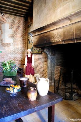 La cucina situata al piano terra del Clos Lucé