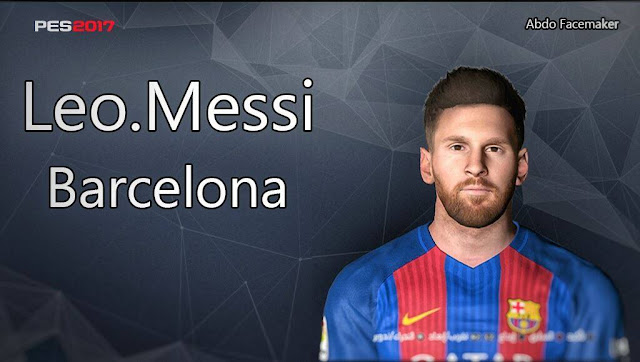 PES 2017 Leo Messi Face by Abdo Mohamed Facemaker