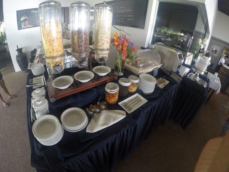 Breakfast food station at Atmosphere Resorts & Spa