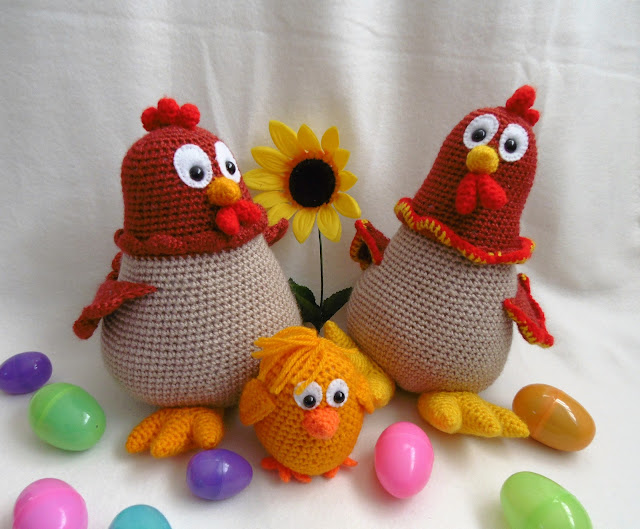 #amigurumi#crochet#hen#rooster#soft#toy#easter#egg#spring#chicken