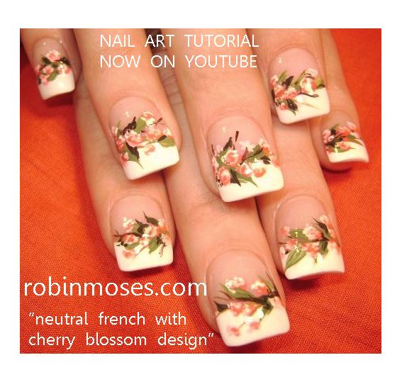 """Robin Moses Nail Art: """"cherry Blossom Nail Art"""" """"rainbow"""