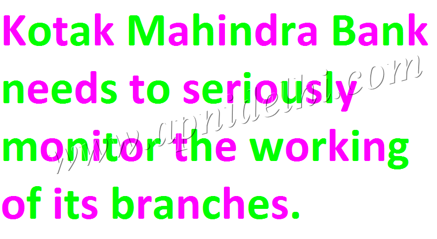 Kotak Mahindra Bank Branch Working