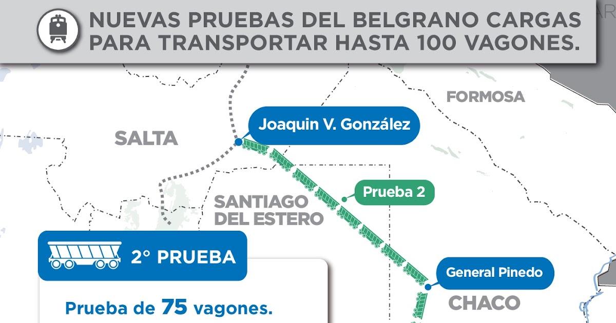 Resultado de imagen para Belgrano Cargas inició un nuevo viaje de prueba de tres días, entre Salta y Santa Fe, con una formación de cien vagones