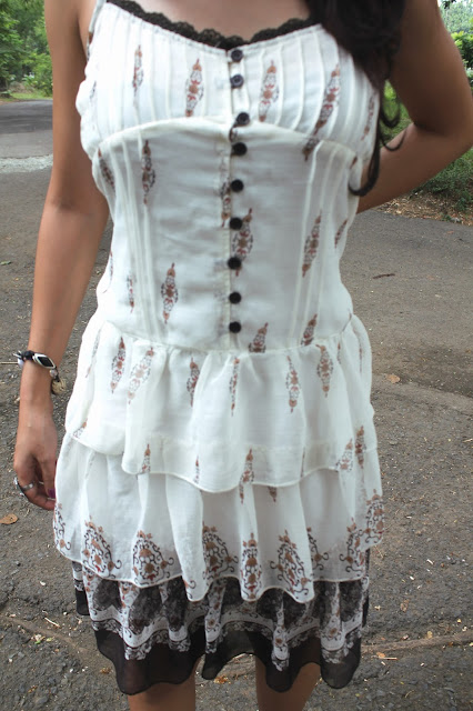 white girly dress