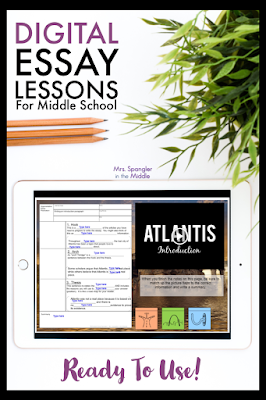 You don't need a course on how to make essay writing lessons digital, you need ready to use lessons for your middle school students!  Find out about them here!