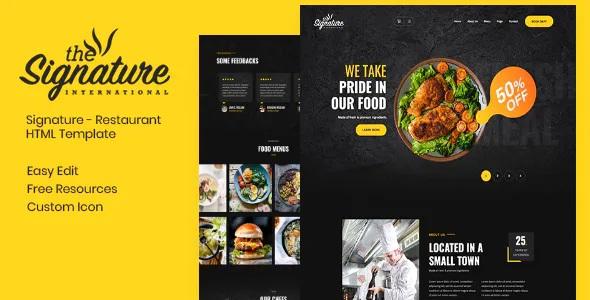Best Restaurant HTML Template
