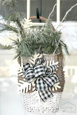 front door winter basket