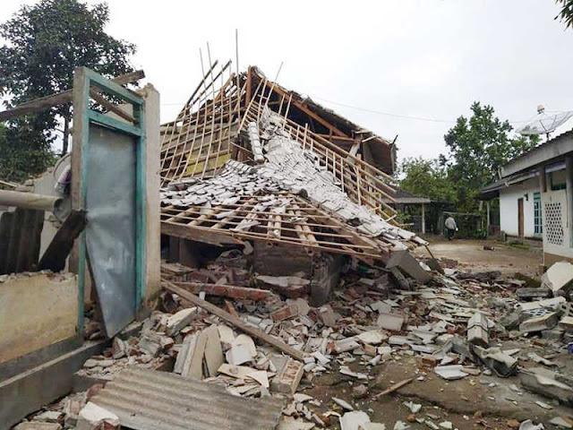 Gempa  5,4 SR Guncang Lombok Timur, 2 Tewas dan 44 Luka