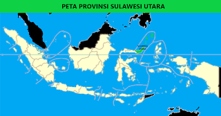 Peta Provinsi Sulawesi Utara