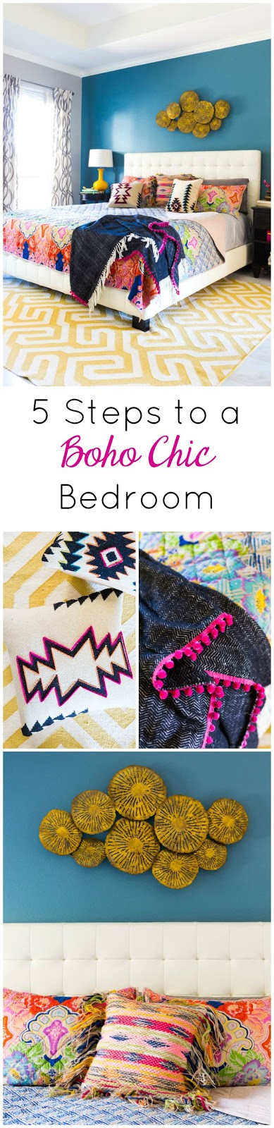 Ideas for creating a boho chic bedroom design!