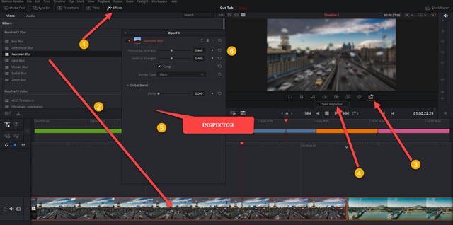 applicare effetti alle clip su Cut