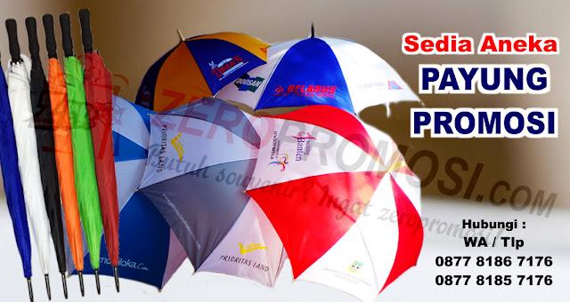 Payung standar Promosi, Payung Golf, Payung Fiber, Payung Lipat 3, payung lipat 2, payung topi, payung dompet