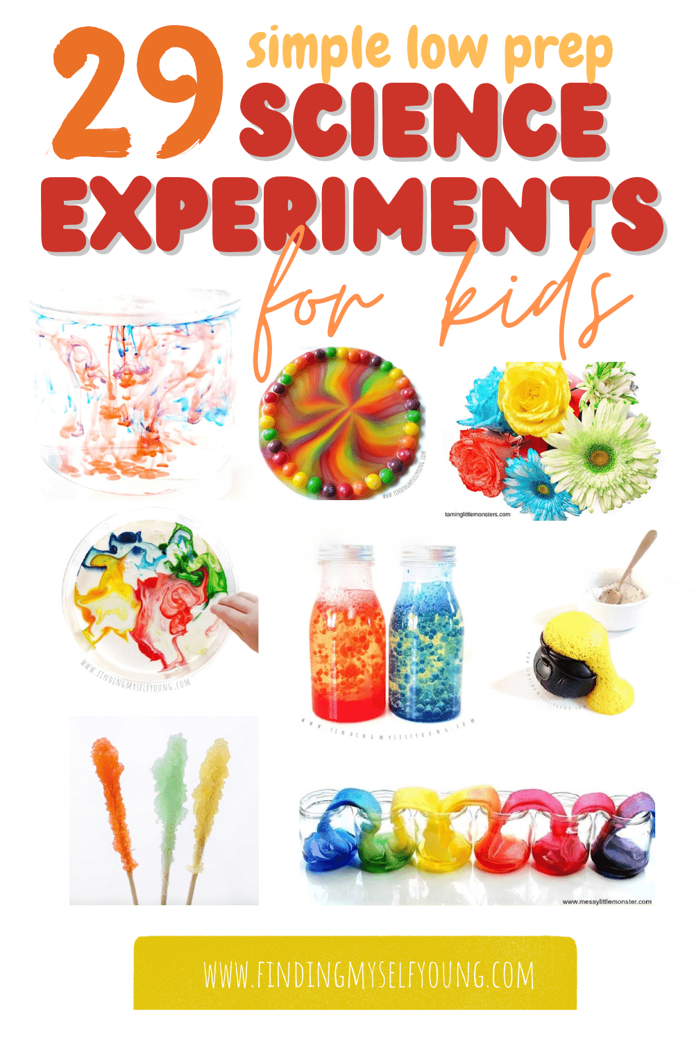 29 simple low prep science experiments for kids of all ages
