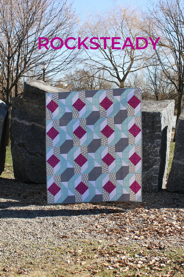 Rocksteady | Modern quilt pattern by Suzy Quilts | Shannon Fraser Designs #quiltsinthewild