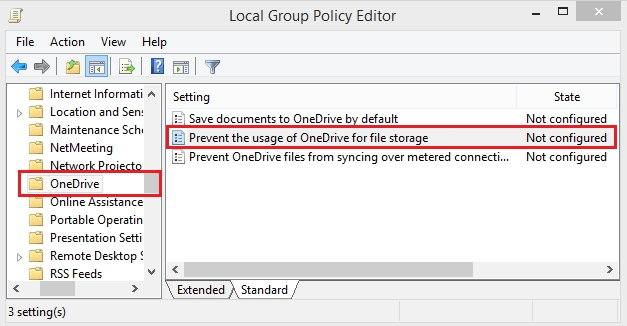 Hide or Disable OneDrive from Windows ten using Local Group Policy Editor