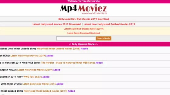 Mp4moviez Download Bollywood, Hollywood Hindi Dubbed Movies Free
