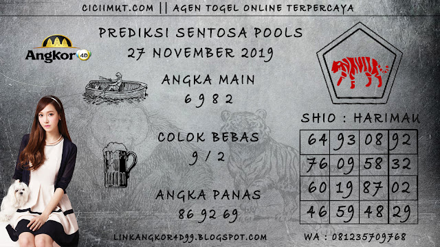 PREDIKSI SENTOSA POOLS 27 NOVEMBER 2019