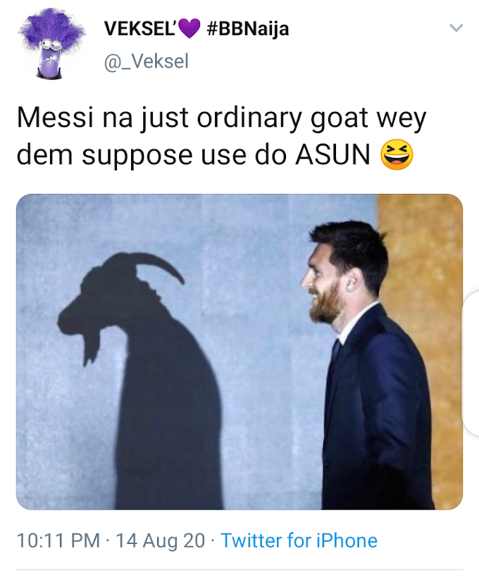 'Messi na ordinary goat wey dem suppose use do 'ASUN' - hilarious reactions after Bayern Munich trash Barca 8-2 (UEFA Champions League)