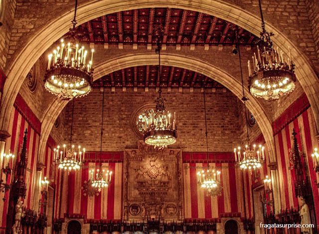 Salò del Cent, salão cerimonial da Casa de La Ciutat, Barcelona