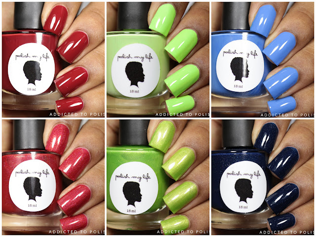 Polish My Life Gleams & Cremes Birthstone Collection July, August, September