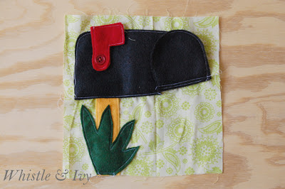 Felt Mailbox and Postcard Quiet Book Page