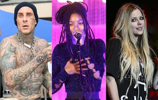 Willow interpreta 'Grow' con Avril Lavigne y Travis Barker por primera vez