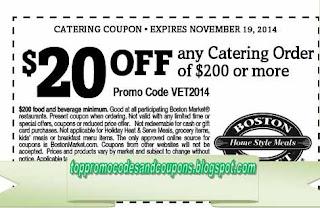 Free Printable Boston Market Coupons