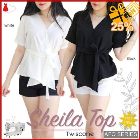 AFO081 Model Fashion Sheila Top Modis Murah BMGShop