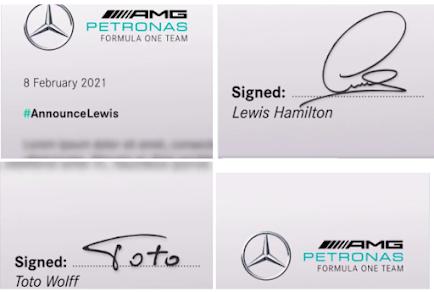 Hamilton renueva Mercedes F1 2021