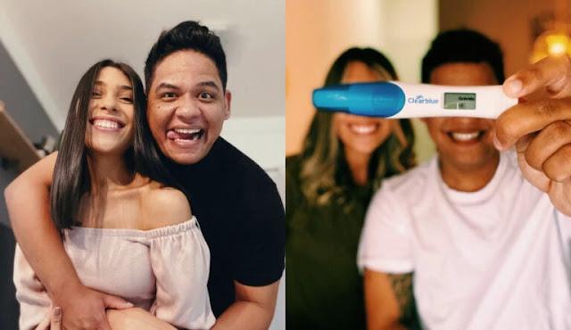 Elizeu Alves celebra gravidez de sua esposa e agradece Deus