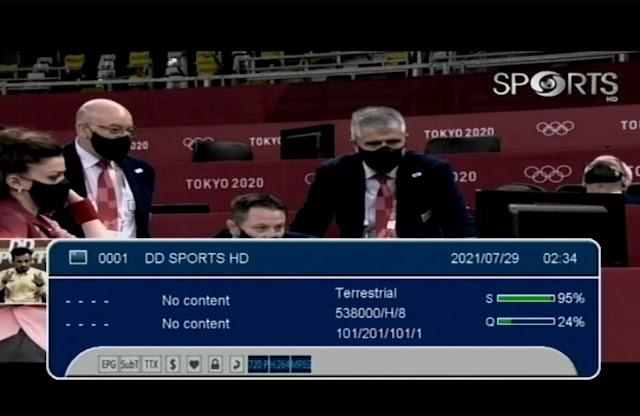 DD Sports HD channel added on Delhi DTV