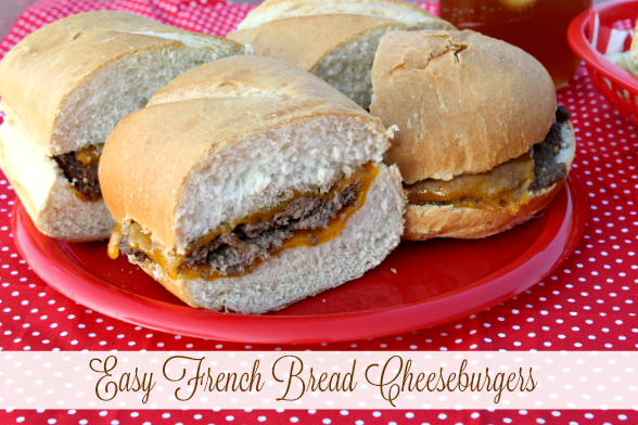 Last Weekend We Made These French Bread Cheeseburgers For A Quick And Easy Meal I Used Organic Ground Beef The Burgers Bakery Fresh