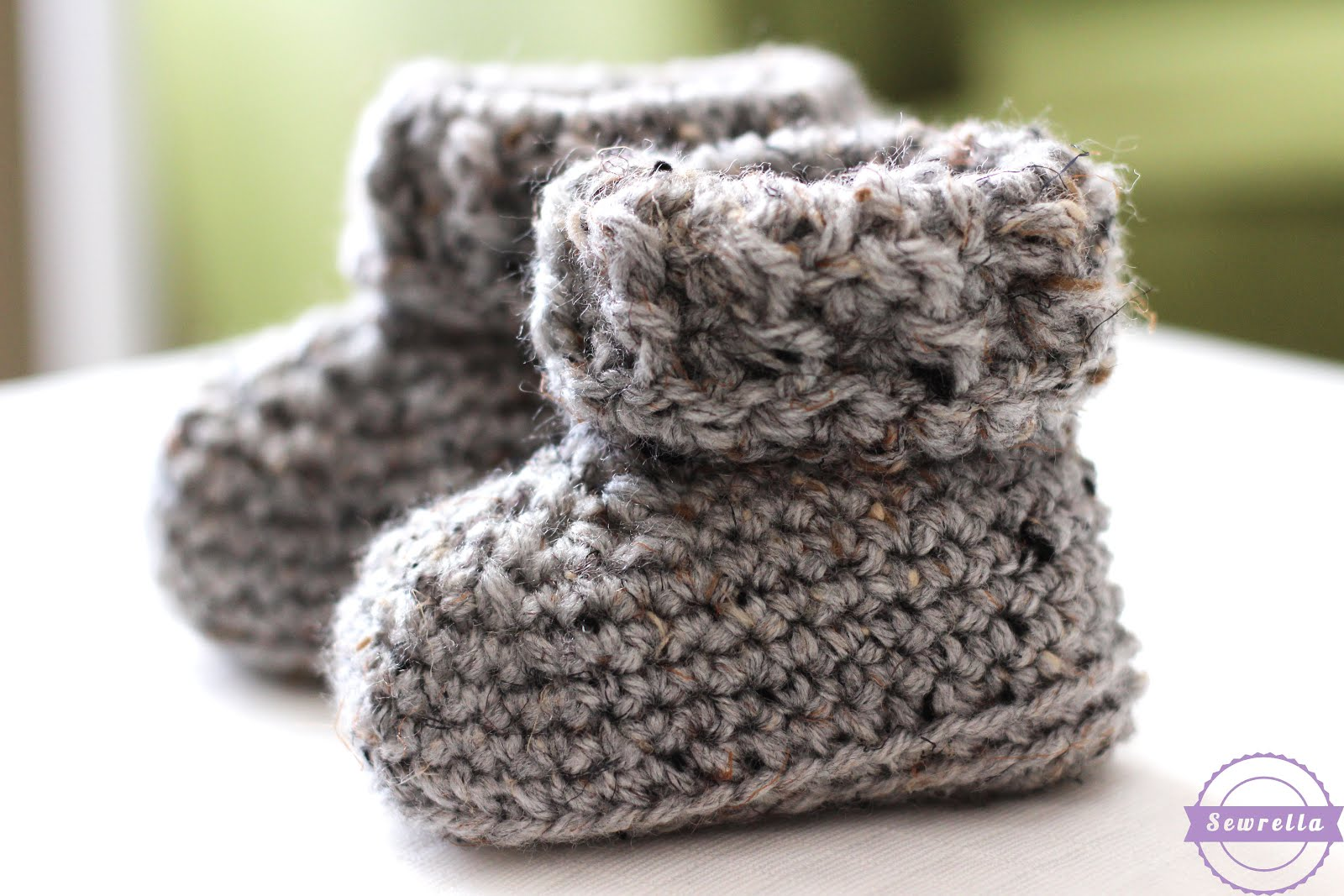 e17e3d37e The Parker Crochet Baby Booties - Sewrella